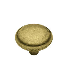 """Antique English Domed Top Round Cabinet Knob - 1-1/4"""""""