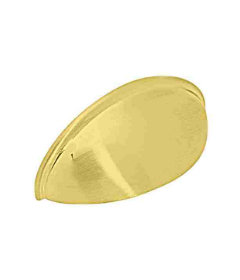 """Brass Plated Plain Cup Pull - 2 1/2"""""""