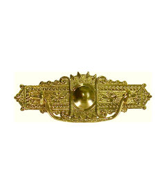 Stamped Brass Eastlake Victorian Style Bail Pull