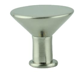 "Brushed Nickel Flat Top Wine Glass Knob 13/16"""
