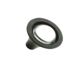 Glass Clear & Black Knob 1-1/4""