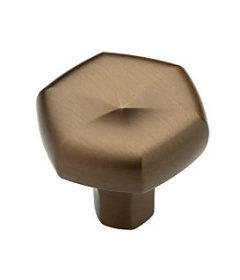 Brushed Bronze Stratus Decorative Cabinet Knob -