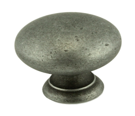 """Antique Pewter Country Store Knob 1 1/4"""""""