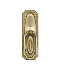 Antiqued Stamped Brass Hepplewhite Pedestal Pull