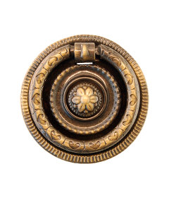 Antique Brass Colonial Revival Ring Pull