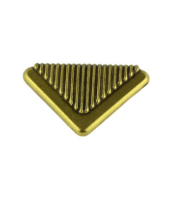 """Antique English Keeler Brass Vintage New Old Stock Art Deco Pull - 1-1/2"""""""