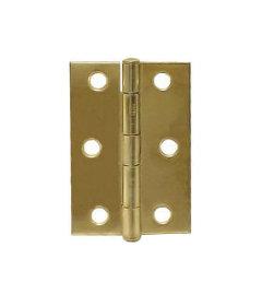 """Brass Steel Pair Hinges - 2-1/2"""" X 1-11/16"""""""