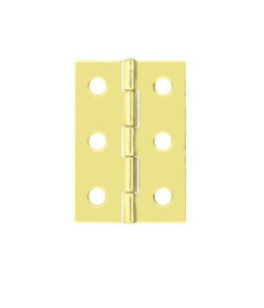 "Brass Plated 6 Hole Butt Hinge - 2-1/2"" X 1-5/8"""