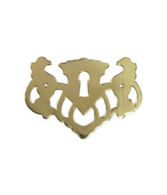 Stamped Brass Chippendale Style Openwork Keyhole Cover