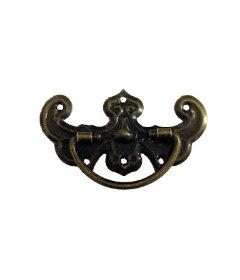 "Antique Brass Mini Bail Pull - 1"""