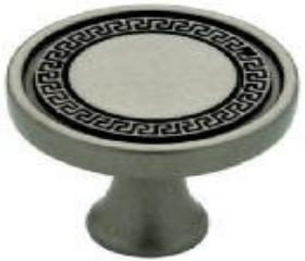 "Antique Iron Greek Key Knob 1 1/4"""