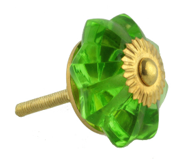Indian Style Green Glass Knob