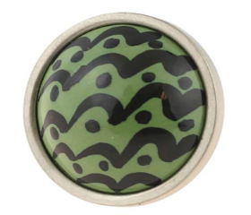 Betsy Fields Sage Green Wave Knob 1-1/4""