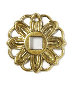 Brass Colonial Revival Style Backplate For Drop Pull