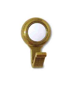 "Antique Brass w/ Ceramic Amerock Coat Hook - 1 5/16"""