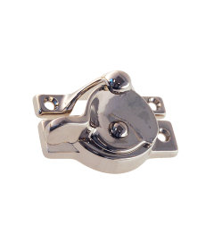 Nickel Square Corner Crescent Sash Latch