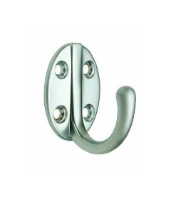 Aluminum Finish Coat Hook Single Coat Hook