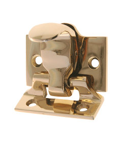Lacquered Brass Sash Lock and Lift Latch