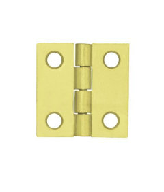Brass Plated Square 2-Pack Butt Hinge - 1""