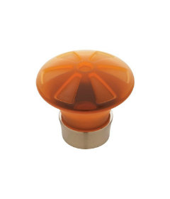 Satin Nickel & Amber Knob 1 9/16""