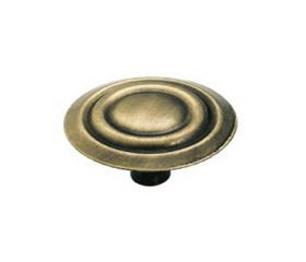 "Ant. Brass Amerock Concentric Knob 1 3/8"""
