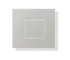 "Double Plastic Square Cabinet Knob - 1 1/4"""