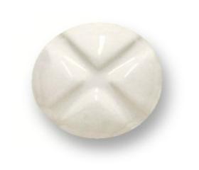 Round Quadrant White Ceramic And Chrome Base Knob