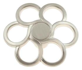 Satin Nickel Open Daisy Petal Knob  1 1/2""