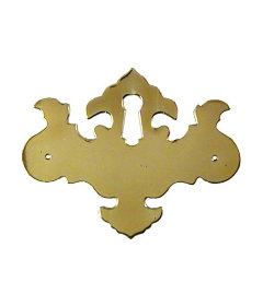 Polished Brass Chippendale Style Keyhole Cover