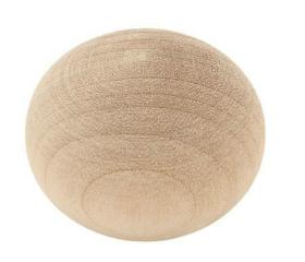 "Birch Wood Ball Unfinished Knob  - 1-1/4"""