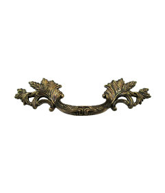 Antique Brass Small French Provincial Drawer Pull