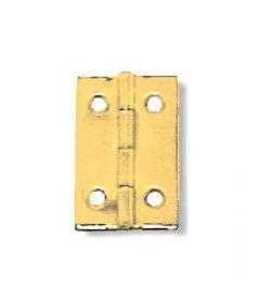 """Brass Plated Light Duty Butt Hinge - 1-1/16"""" x 11/16"""