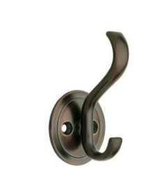 """Venetian Bronze With Round Base Coat And Hat Hook - 3"""""""