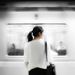 Angst  mit dem                                     Zug zu fahren