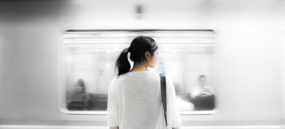 Vrouw bij Subway