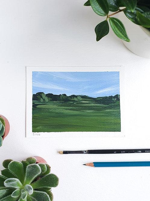 "Day 003: ""Spring Fresh"" acrylic painting 10x15cm / 4x6"""