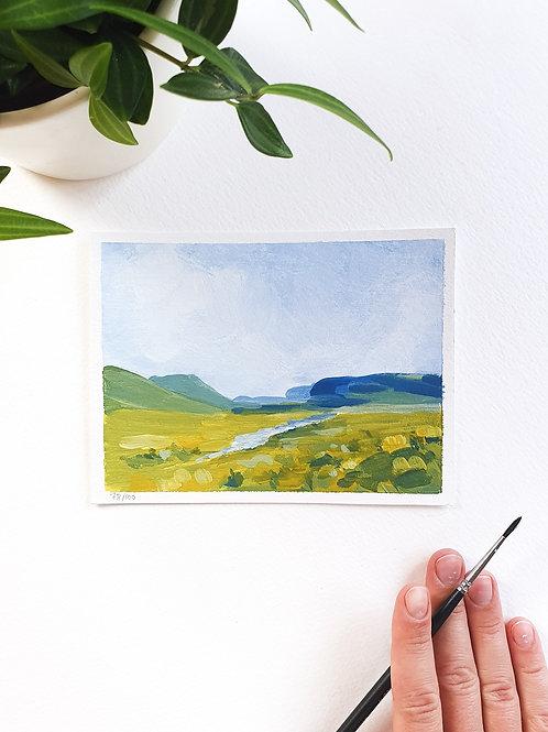 "Day 078: ""Simplify"" acrylic painting 12x16cm / 5x6"""