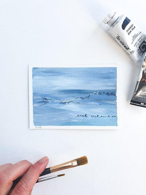 "Day 071: ""Balance"" acrylic painting 12x9cm / 5x4"""