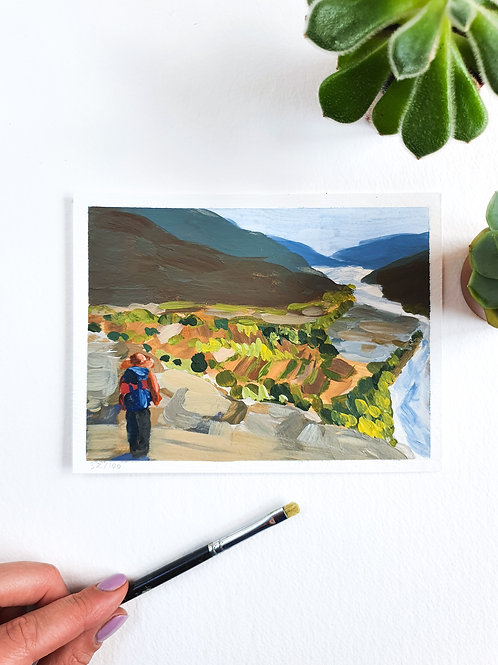 """Day 032: """"Hidden Gems"""" acrylic painting 16x12cm / 6x5"""""""