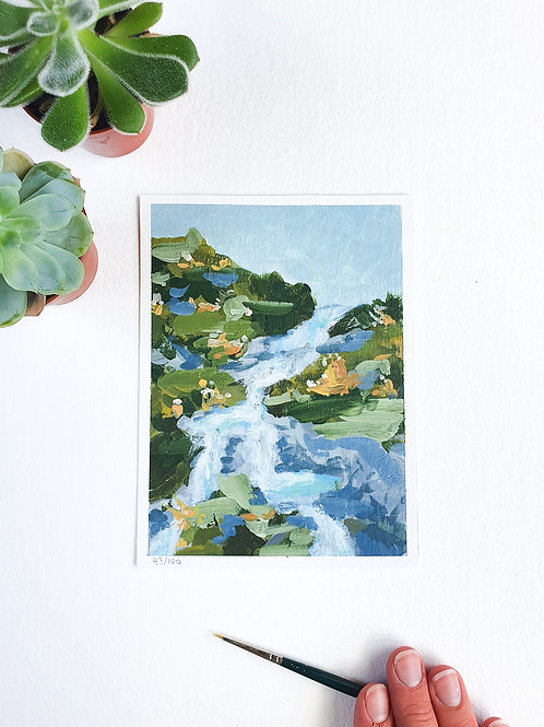 "Day 043: ""Fresh"" acrylic painting 16x12cm / 6x5"""