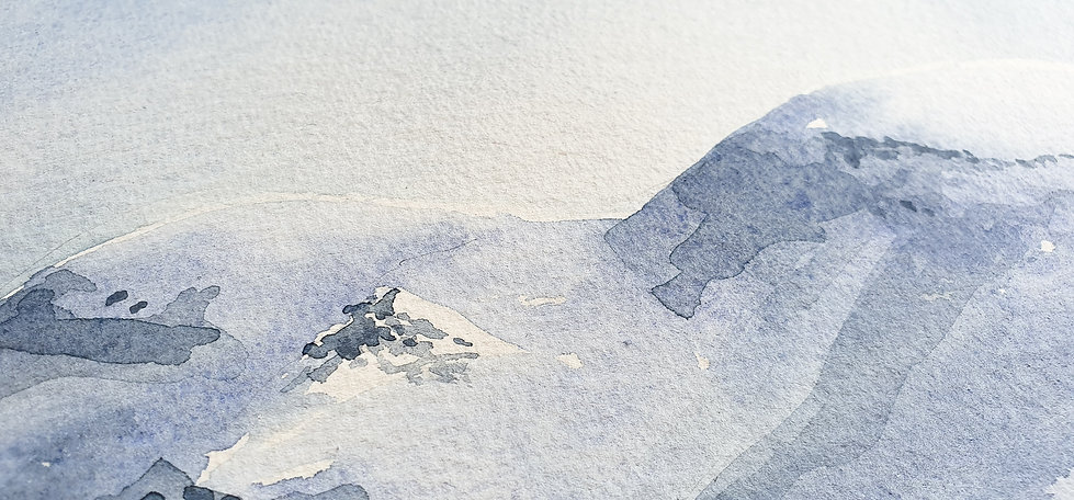 Arctic spaces watercolor by Maiu Lünekund