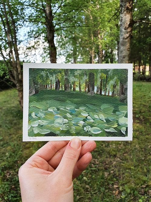 """Day 004: """"Secret Places"""" acrylic painting 10x15cm / 4x6"""""""
