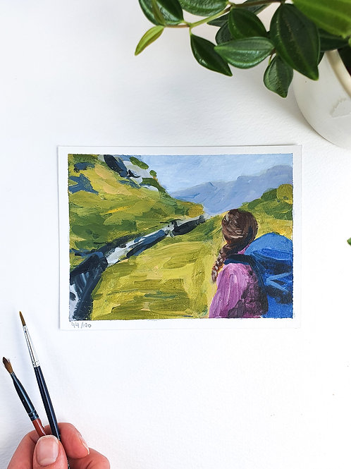 "Day 044: ""Breathe"" acrylic painting 16x12cm / 6x5"""