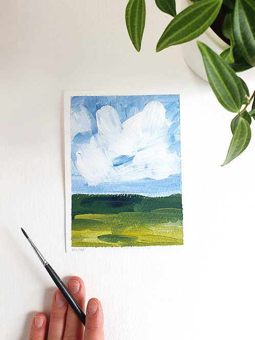 """Day 100: """"Simple Beauty no.2"""" acrylic painting 12x16cm / 5x6"""""""