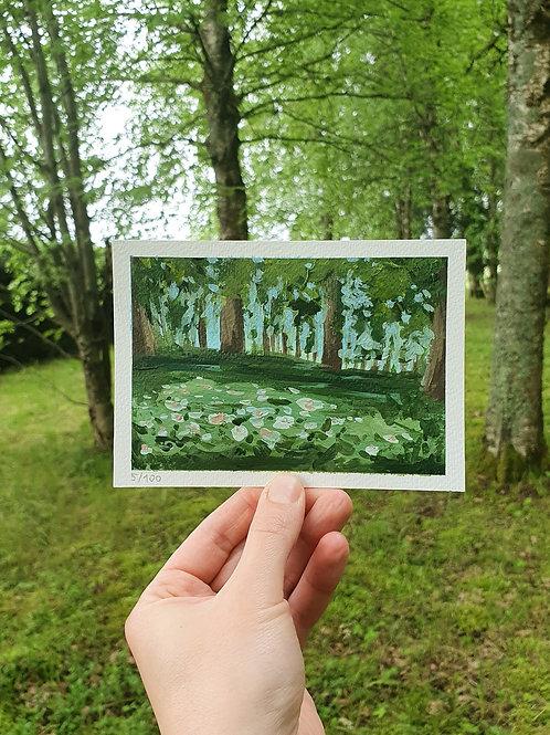 "Day 005: ""Secret Place No. 2"" acrylic painting 10x15cm / 4x6"""