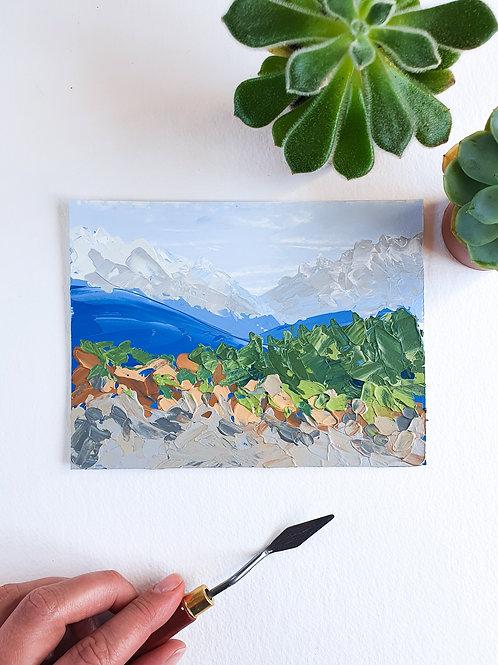 "Day 035: ""Dreamland"" acrylic painting 16x12cm / 6x5"""