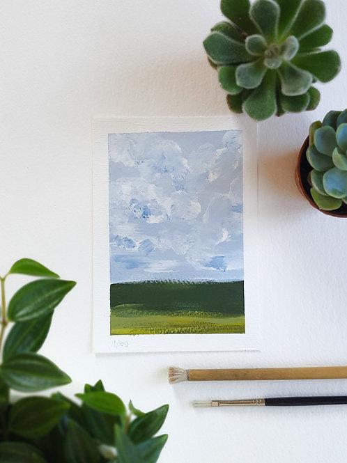 "Day 001: ""Simple Beauty"" acrylic painting 10x15cm / 4x6"""