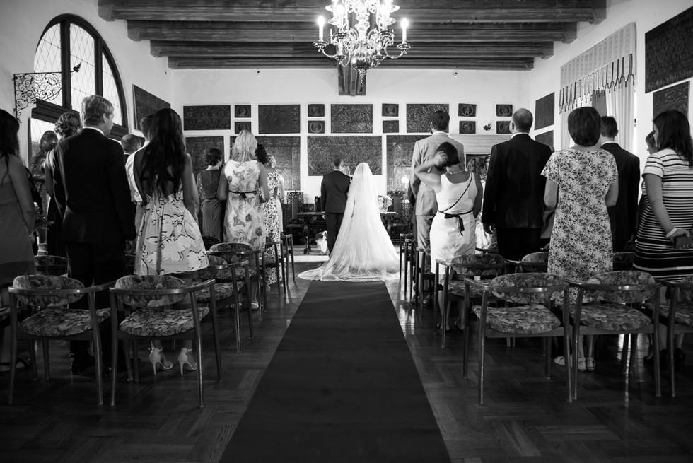 Svatba v rytířském sálu na hradě Šternberk