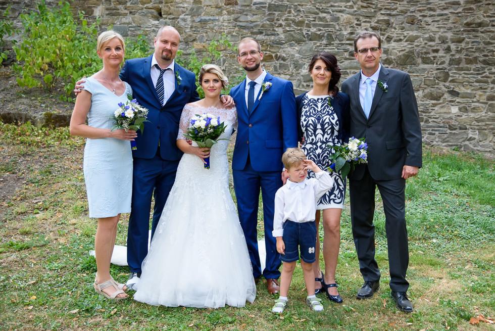 Focení portrétů s rodinou po obřadu