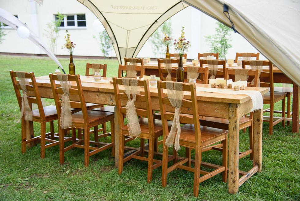 Svatební výzdoba stolů